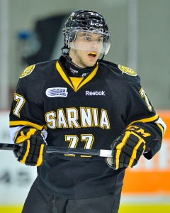 Tony DeAngelo of the Sarnia Sting (Terry Wilson/OHL Images)