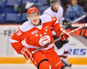 Jared McCann of the Soo Greyhounds has a bright future and one team will cash in on his huge potential (Photo by Terry Wilson / OHL Images)